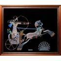 Картина из страз сваровски Колесница цветная