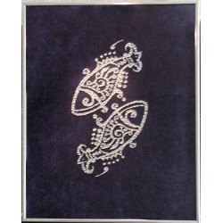 Картина из кристаллов сваровски Знак зодиака Рыбы большой