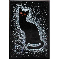 Кошка под снегом средняя