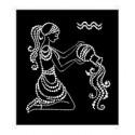 Картина из страз сваровски Знак зодиака Водолейка малая
