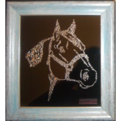 Картина из страз сваровски Голова лошади