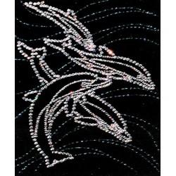 Картина из страз сваровски Дельфины малые