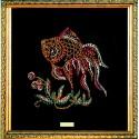 Картина из страз сваровски Золотая рыбка