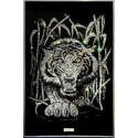 Картина из страз сваровски Тигр в тростнике белый