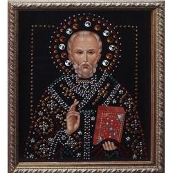 Икона Николай Чудотворец малая репродукция