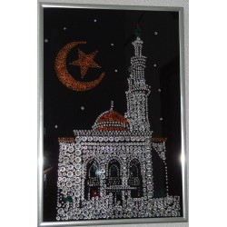 Картина из страз сваровски Мечеть с полумесяцем алжирская