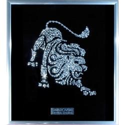 Картина из кристаллов сваровски Знак зодиака Лев малый