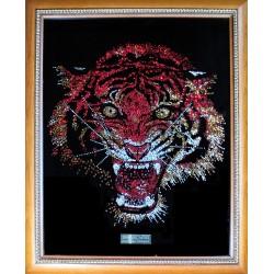 Картина из страз сваровски Тигр цветной