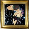 Картина из страз сваровски Поцелуй по мотивам Густава Климта