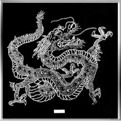 Картина из страз сваровски Дракон большой белый
