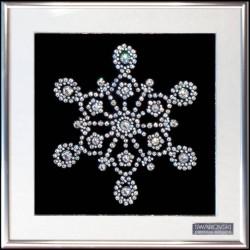 Картина из кристаллов сваровски Снежинка 3