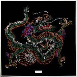 Картина из страз Восточный Дракон малый цветной