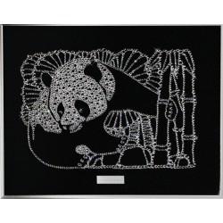 Картина из страз сваровски Панда