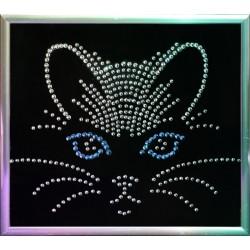 Картина из страз сваровски Морда кошки