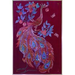 Картина из страз сваровски птица Павлин