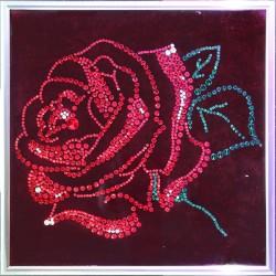 Картина из страз сваровски Роза подарок на 14 февраля