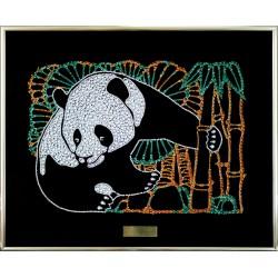 Картина из кристаллов сваровски Панда цветная