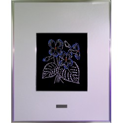 Картина из кристаллов сваровски Фиалка паспарту
