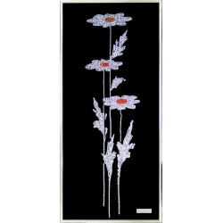 Картина из кристаллов Сваровски Три ромашки