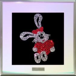 Картина из страз сваровски Кролик с сердцем