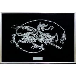 Картина из кристаллов сваровски Дракон-модерн 1 малый