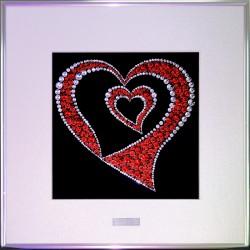 Картина из страз сваровски Сердце в сердце
