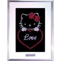 Картина из страз сваровски Hello Kitty