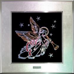 Картина из страз сваровски Ангел рождественский