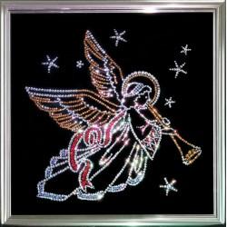 Картина из кристаллов сваровски Ангел рождественский