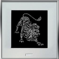 Картина из страз сваровски Знак зодиака Лев средний
