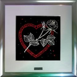 Картина из страз сваровски Роза в сердце