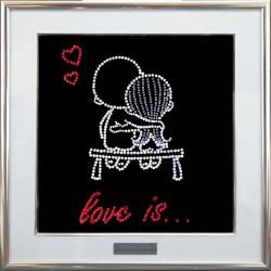 Картина из кристаллов сваровски Парочка Love Is