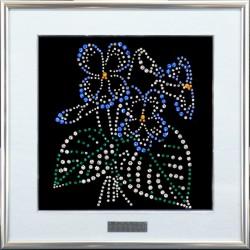 Подарок из кристаллов сваровски Фиалка