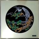 Картина из кристаллов сваровски Цапля цветная
