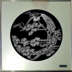 Картина из кристаллов сваровски Цапля белая
