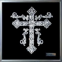 Картина из страз сваровски Крест