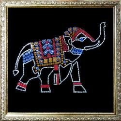 Картина из кристаллов сваровски Слон