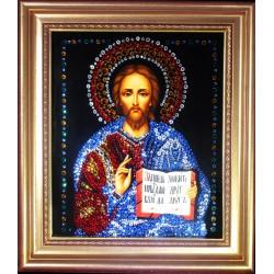 Картина из страз сваровски Икона Иисус Христос малая репродукция