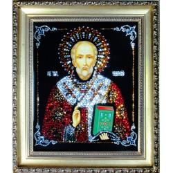 Картина из страз сваровски Икона Николай Чудотворец 2 средняя репродукция