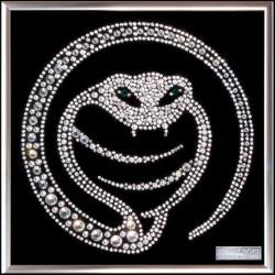 Картина из кристаллов сваровски Змея восточная 2
