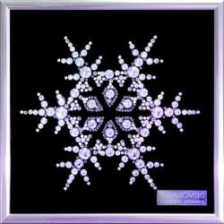 Картина из кристаллов сваровски Снежинка