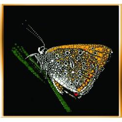Картина из страз сваровски Бабочка на травинке