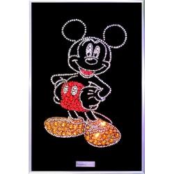 Картина из кристаллов сваровски Микки Маус цветная