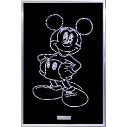 Картина из кристаллов сваровски Микки Маус белая