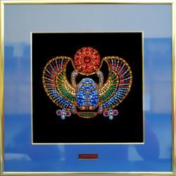 Картина из страз сваровски Жук-скарабей египетский