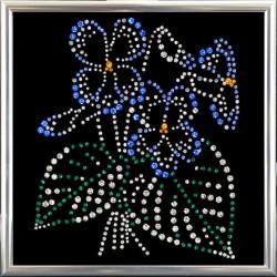 Картина из кристаллов сваровски Фиалка