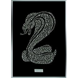 Картина из страз сваровски Змея кобра средняя