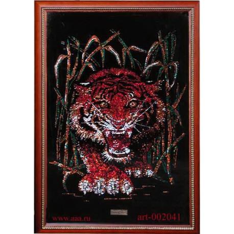 Тигр в тростнике цветной