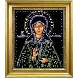Икона Матрона малая репродукция штампованная