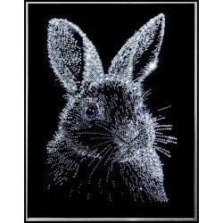 Картина из кристаллов сваровски Заяц